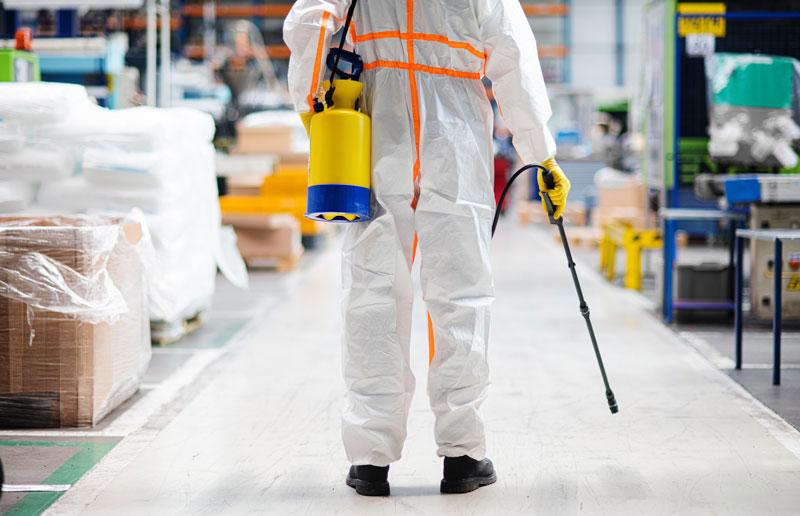 Sanificazione con nebulizzatore